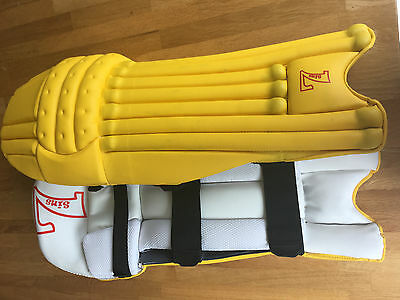 7Sins (Redback Cricket) - NEW YELLOW Pads - Left Hand Mens - Made for Pro