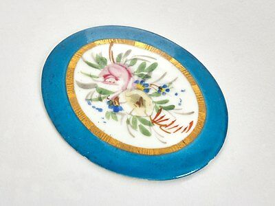 Antique Sevres Floral Painted Plaque 19Th C.