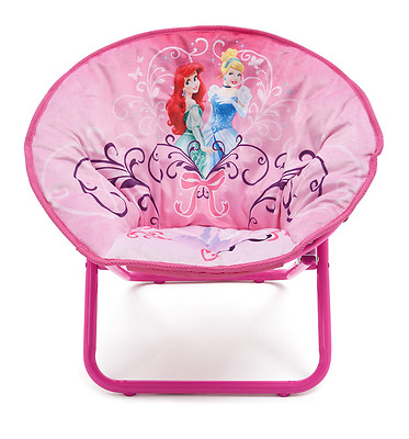Delta Children Disney Princess Saucer Chair, Kids Folding Seating By Delta