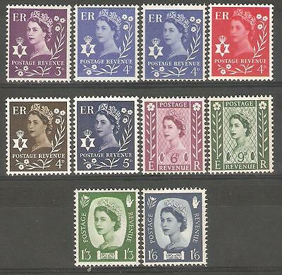 1958-69 N.Ireland Regionals ( Set of 10 ) Mint Never Hinged.