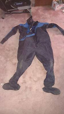 DUI TLS 350 Dry Suit Custom 3XL/4XL With Thinsulate Insulated Jumpsuit