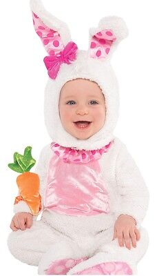 3cf81feb3 BUNNY RABBIT COSTUME Easter Pageant Baby Infant Precious Pink Wabbit ...