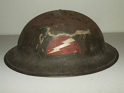 WW1 U.S. Army Doughboy Helmet ZF51 -Hand Painted Insignia 78th Infantry Division