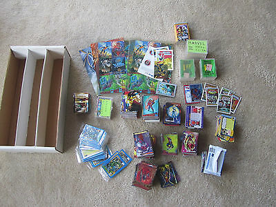 LOT 2000+ MARVEL X-MEN COMIC CARDS ULTRA FLAIR MASTERPIECES IMPEL w/ some DC