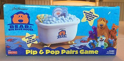 Fisher Price Bear In The Big Blue House Pip & Pop Pairs Game, Brand New, Rare