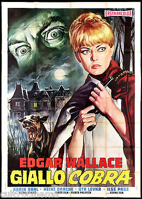 Giallo Cobra Manifesto Film Horror Der Hond Von Blackwood Castle Movie Poster 4F