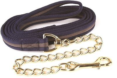 Hy Soft Webbing Lead Rein with Chain Various Assorted Colours 2m 3647P
