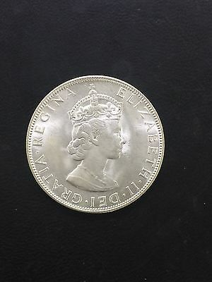 Uncirculated 1964 Bermuda 1 One Crown Silver Coin