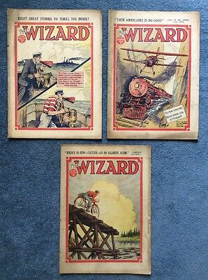 3 Vintage comics THE WIZARD #715, 717, 718 - 1936