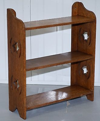 Nice Hand Carved Solid Oak Small Kitchen Spice Rack Bookcase Shelves Good Find