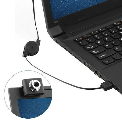 Mini USB2.0 5 Megapixels Retractable Clip WebCam Web Camera For PC Laptop BS