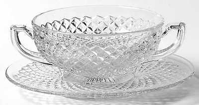 Westmoreland ENGLISH HOBNAIL CLEAR (ROUND BASE) Cream Soup & Saucer 769295