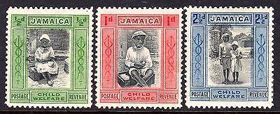 Jamaica 1923 Child Welfare Set SG107-107c M/Mint