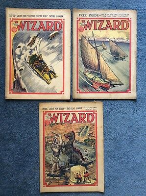 3 Vintage comics THE WIZARD #856, 857, 858 - 1939