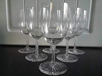 Set of 6 Quality Cut Glass Late Victorian Wine Glasses 19th Century c1890