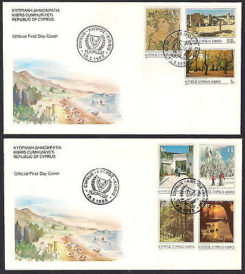 1985 DEFINITIVE ISSUE PICTORIAL STAMPS OF CYPRUS REPUBLIC Set of 15v. NICE  FDC