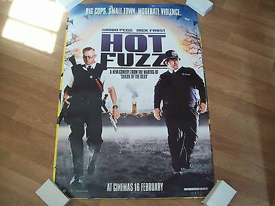 Hot Fuzz Cinema one sheet Poster d/s  full size ORIGINAL Simon Pegg Nick Frost