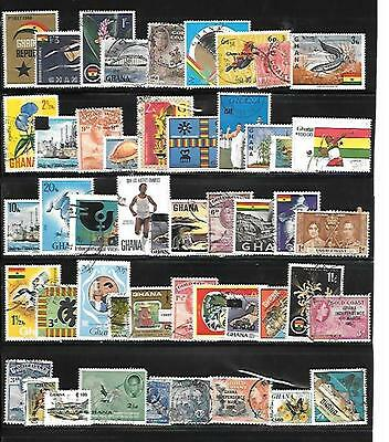 Ghana Stamps - 45+ Different Used.
