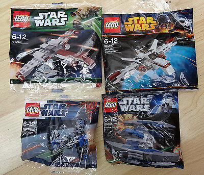 Lego 30240 & 30247 & 30055 & 8028- Lego Star Wars -  Brand new poly bags