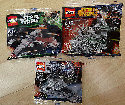 Lego 30240 & 30244 & 30056 - Lego Star Wars -  Brand new poly bags