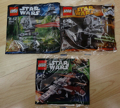 Lego 30274 & 30240 & 30054 - Lego Star Wars -  Brand new poly bags