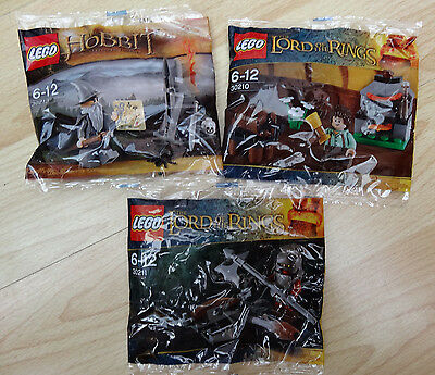 Lego 30213 & 30210 & 30211 - Lego Lord Of The Rings -  Brand new poly bags