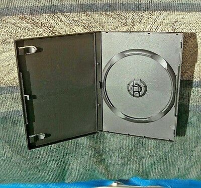 14mm STANDARD SINGLE DVD CASES 100 WITH PLASTIC SLEEVE OVER CASE FOR MOVIE COVER