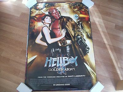 Hellboy 2 the golden army Cinema one sheet Poster full size Ron Perlman