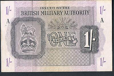 British Military Authority Banknote 1 M2 1943 Gvf Series A