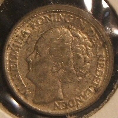 1944-P~~Netherlands~~10 Cents~~Silver Beauty~~Rare