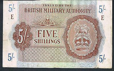 BRITISH MILITARY AUTHORITY BANKNOTE 10 M2 1943 aEF SERIES E