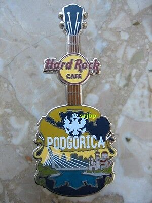 Hard Rock Cafe HRC Podgorica City T Guitar Pin