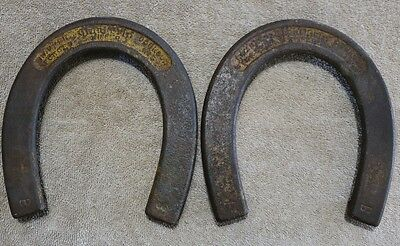 "Pair of Vintage Giant Grip ""Winner"" Hookless Pitching Horseshoes"