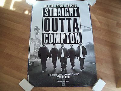 Straight outta Compton Cinema one sheet Poster full size NWA Ice Cube Dr. Dre