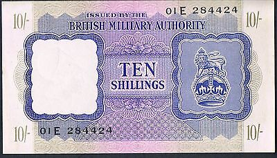 British Military Authority Banknote 10 M5 1943 Au