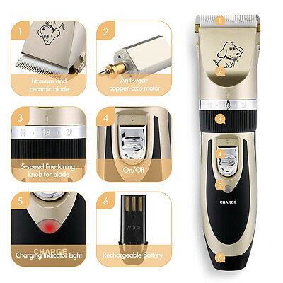 Professional Pet Clippers Dog Cat  Animal Long Hair Shaver Trimmer Grooming Kit