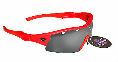 RayZor Uv400 1 Piece Vented Smoked Lens Archery Sports Wrap Sunglasses RRP£49