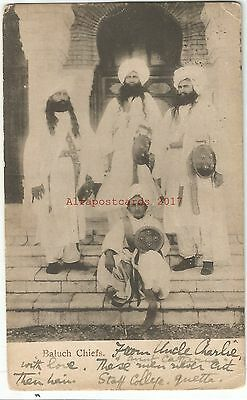 Baluch People Pakistan Iran Early Vintage Postcard 16.5