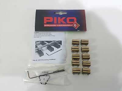 Brand New Piko G RailClamp, On-Rail, 10 Pieces # 35293