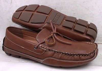 Izod Mens Burton Tan Casual Slip On Loafers Driving Mocs Shoes size 8.5 M