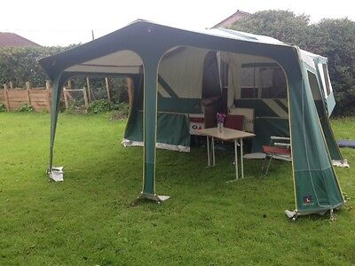 Pennine Aztec Folding Camper Good Condition With Canopy Sink Cooker Electric