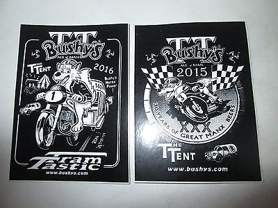 2 Tt Bushys Ale Of Man The Tent Stickers 2015 And 2016