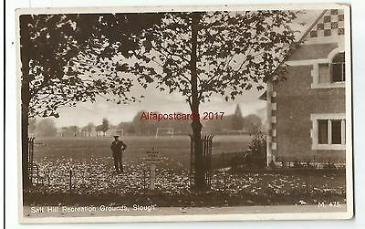 Bucks Slough Salt Hill Recreation Grounds Real Photo Vintage Postcard