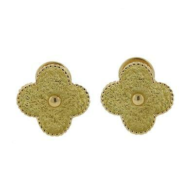 Van Cleef & Arpels Large Alhambra 18k Gold Earrings