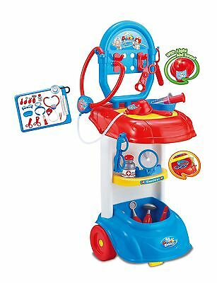 Kids Doctor Set Medical Playset  Trolley Nurse Medic Pretend Role Play Toy Set
