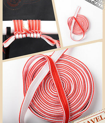Red & White Bicolourable High quality Silk Sageo cord For Japanese Samurai Sword