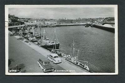 Wick Caithness - The Harbour & Fishing Boats RP p/u 1965
