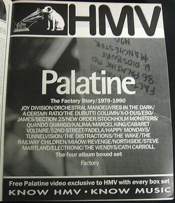 Palatine Factory Box Set Rare ad clipping from UK  music magazine new order