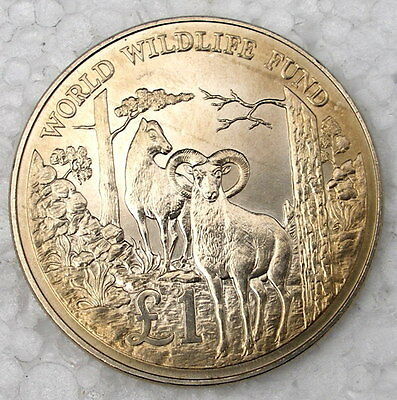 Cyprus 1 Pound  1986 World Wildlife