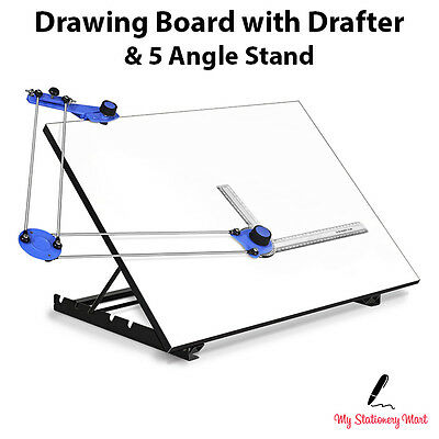 A3 A2 Drawing Board With DRAFTER & 5 ANGLE STAND Tilted Architecture Scholar